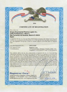 FDA CERTIFICADO DE REGISTRO ORIGINAL R